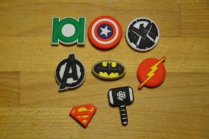 китайский набор Jibbitz значки супергероев с алиэкспрес